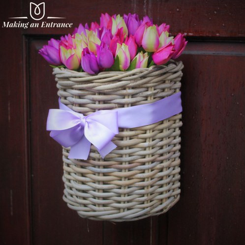 Tulip Wall And Front Door Basket Wreath Luxury Forever Infinity Rose