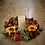 faux sunflower and cider apple table centre and wreath made by making an entrance uk in wales in our design studio