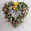 hand made in our welsh studio, this wild flower adorned front door wreath makes an ideal gift for her