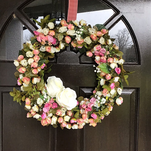 this luxury front door part wreath will give you curb side appeal made by us in wales