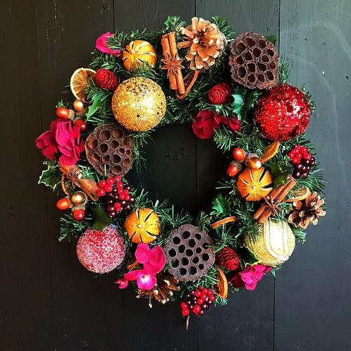 'Smells Like Christmas' Wreath