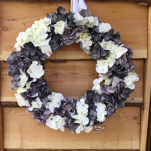 moonlit shadow handmade front door wreath, stunning gift from our welsh studio