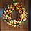 large tulip front door wreath made in wales for spring gift, happy easter