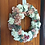this is a hand made front door wreath hanger made in our welsh studio