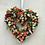 we hand make this door hanger peach and cream summer romance front door wreath in wales