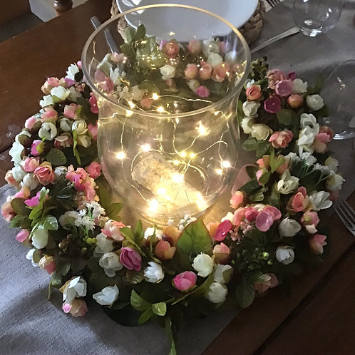light pink fake artificial rose bud table decor for your party