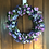 lavender lilac sweetpea front door wreath, making an entrance uk
