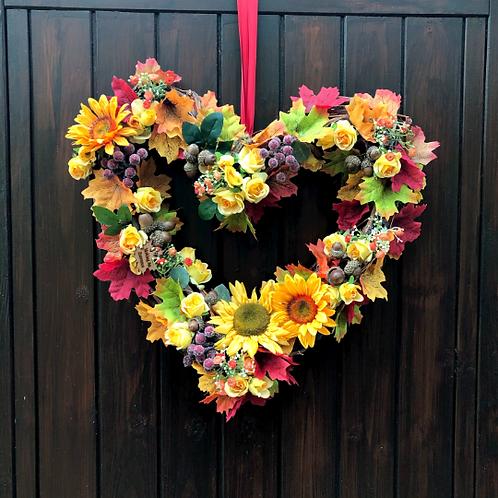 'Sunshine On A Rainy Day' Heart-Shaped Birch Wreath