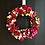 wild roses and bud together with summer fruits adorn this stunning door wreath, give a summer gift