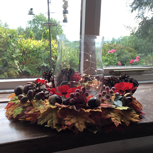 making an entrance made this table centrepiece wreath in our welsh studio in wales