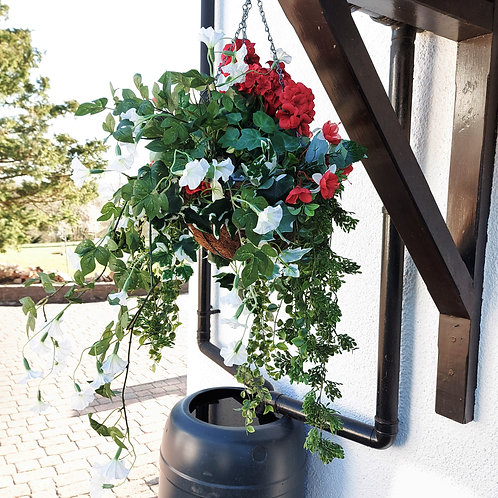 hand made faux hanging basket spring flowers and a summer gift for her