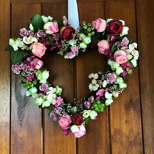 'Home Sweet Home' Dusky Pink Wreath