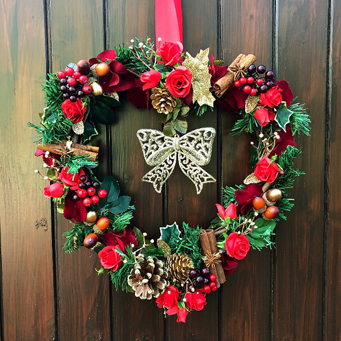 'All I Want For Christmas Is You' Midi Wreath (red & gold)