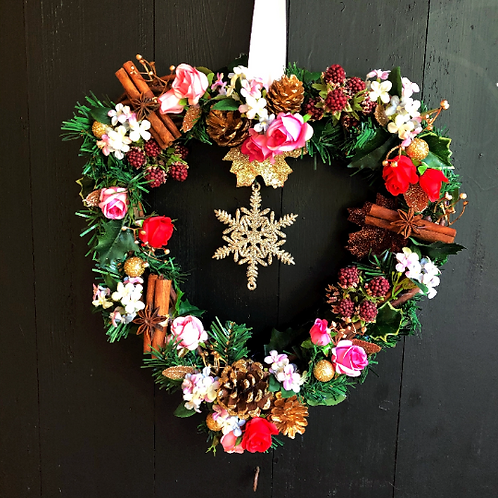 'All I Want For Christmas Is You' Midi Wreath (pink& gold))