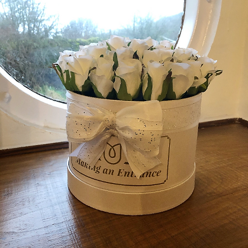 fantastic present small bloom hat box, hand made in wales as a gift for a birthday or valentines