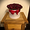 large faux flower handmade hand made bloom hat box for valentines day gift