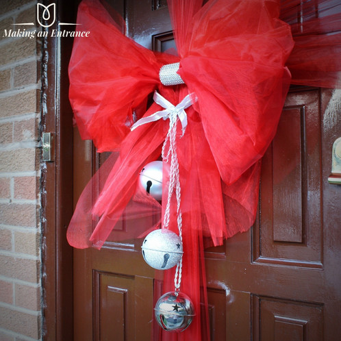 Makinganentranceuk Making An Entrance Uk Organza Door Ribbon Bow Pink Red Baby Christmas