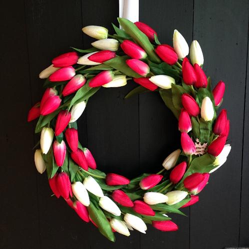 Tulip Farm Front Door wreath