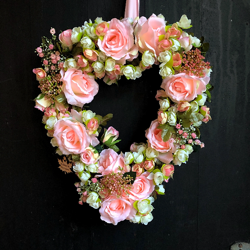 'Kiss from A Rose' Heart Wreath