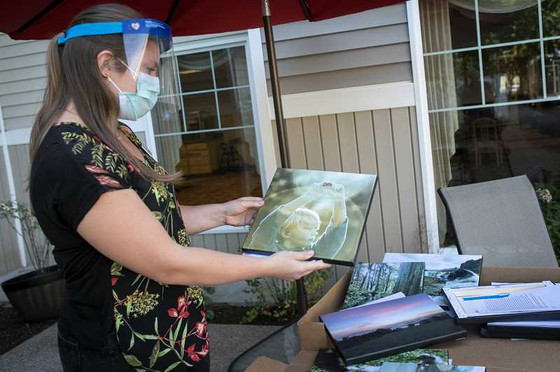 Residents at Raleigh Hills Assisted Living receive special art