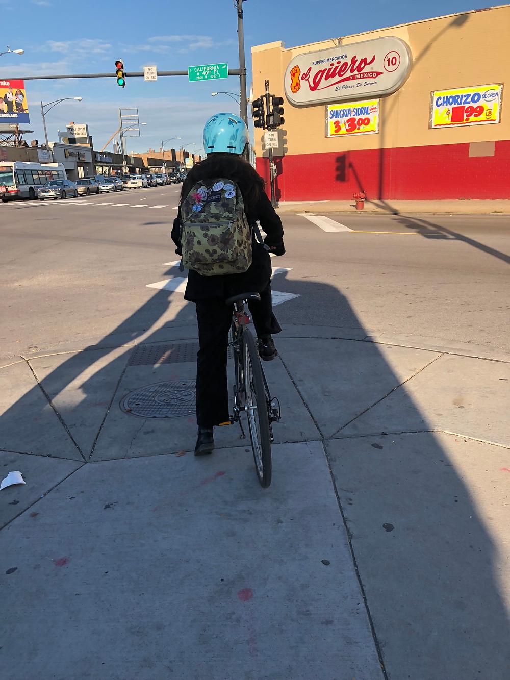 Biking in Brighton Park, Chicago