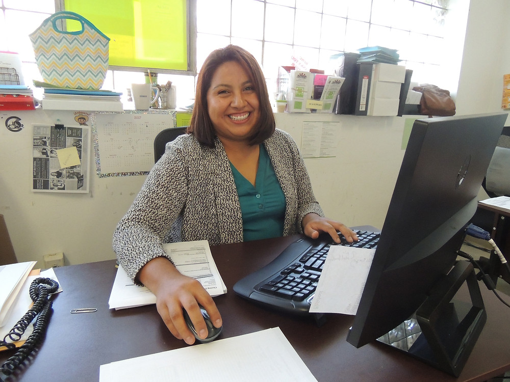 Eva is the financial servicess staff member at Brighton Park Neighborhood Council