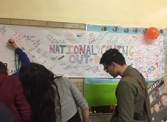 Celebrating National Coming Out Day at Kelly High School
