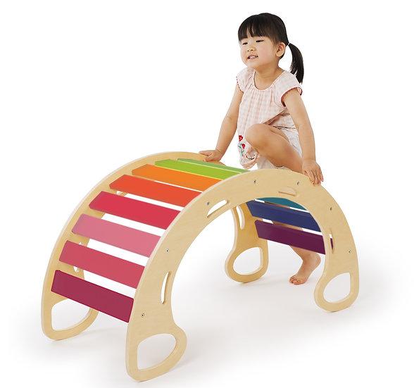 Jumbo Waldorf Rocking Play (Rainbow)