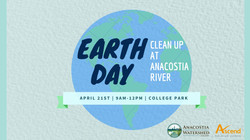 Earth Day Clean up at Anacostia River flyer