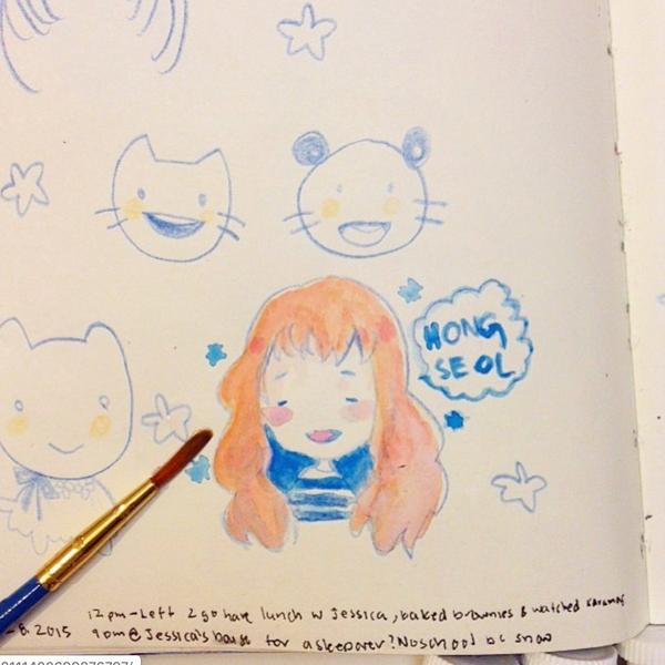 hong seol, a doodle.