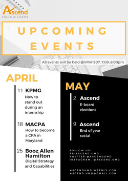 Ascend Upcoming Events Flyers