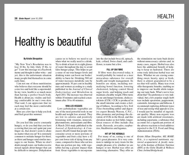 Healthy Is Beauty
