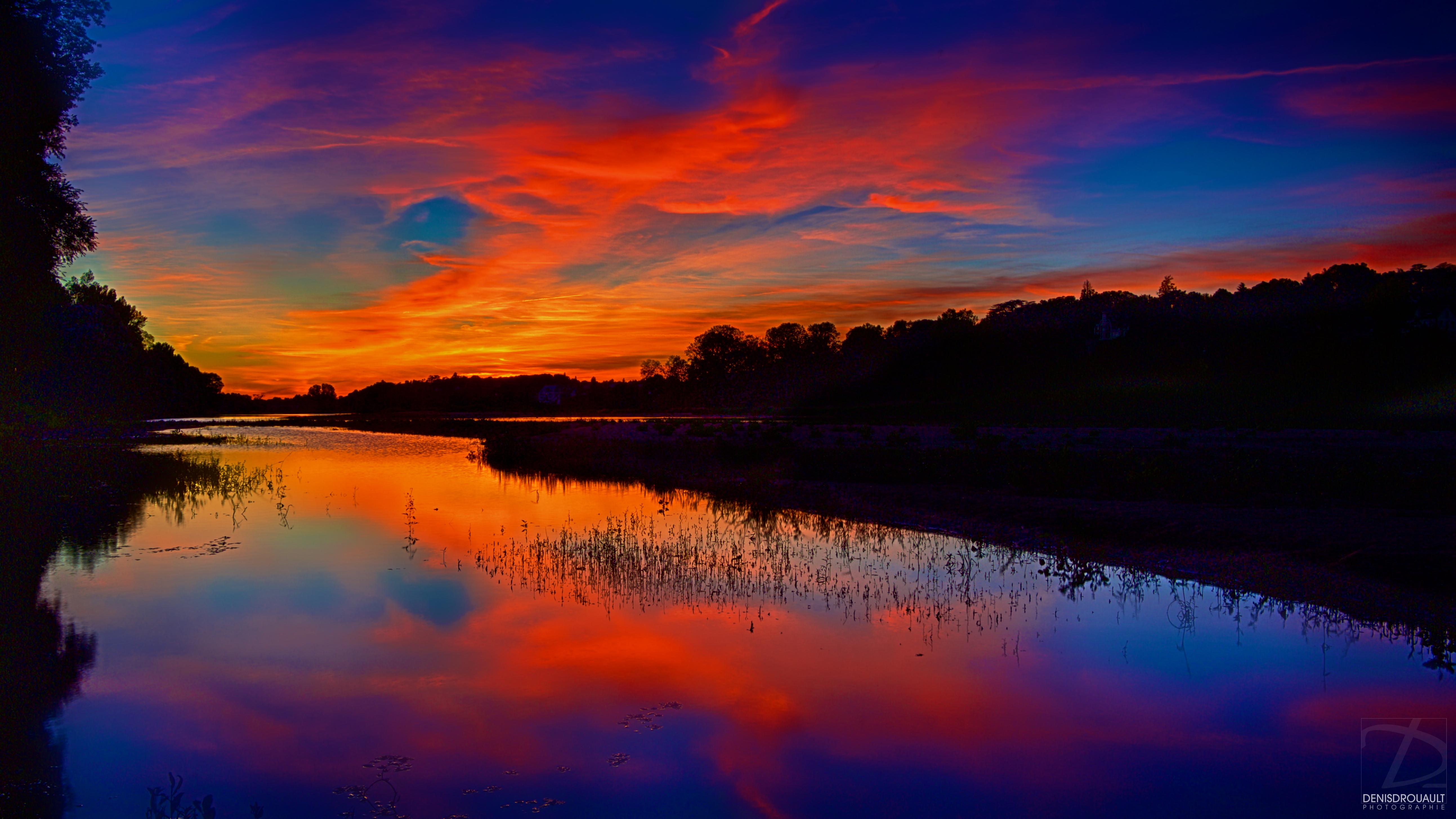 La Loire en feu