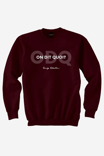 ODQ Crewneck Burgundy
