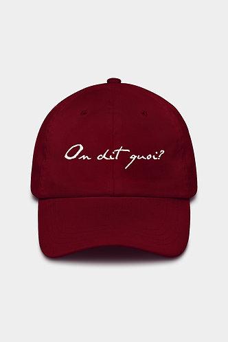 ODQ Signature Cap Burgundy