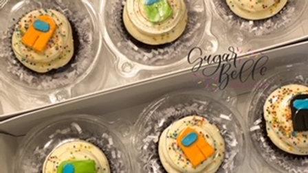 Individually wrapped custom cupcakes