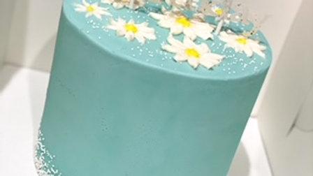 "5""  3 layer cake w/ standard buttercream design"