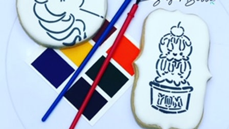 Paint your own cookie party favors (1/2 dozen)