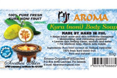 Fiji Aroma kura(noni)body soap(plastic packaging)