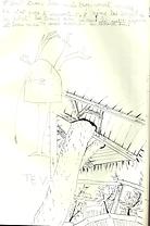 dessin vue du dessous d'une cabane