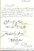 Commentaire en écriture elfique
