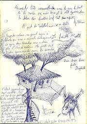 Cabane et âne au Varon en Provence