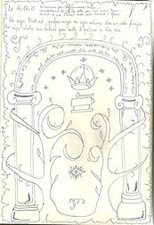 Livre d'or décoré