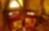 Piqué de coton rouge pour cette cabane du varon la Bastidane