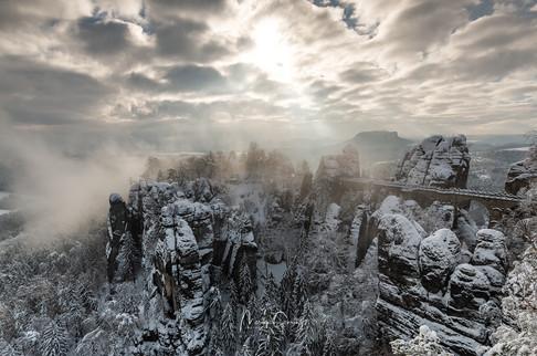 Winterliche Bastei