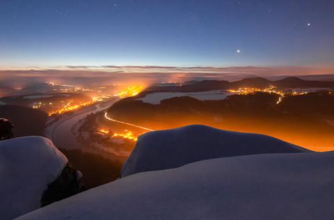 Nachts im Elbsandstein