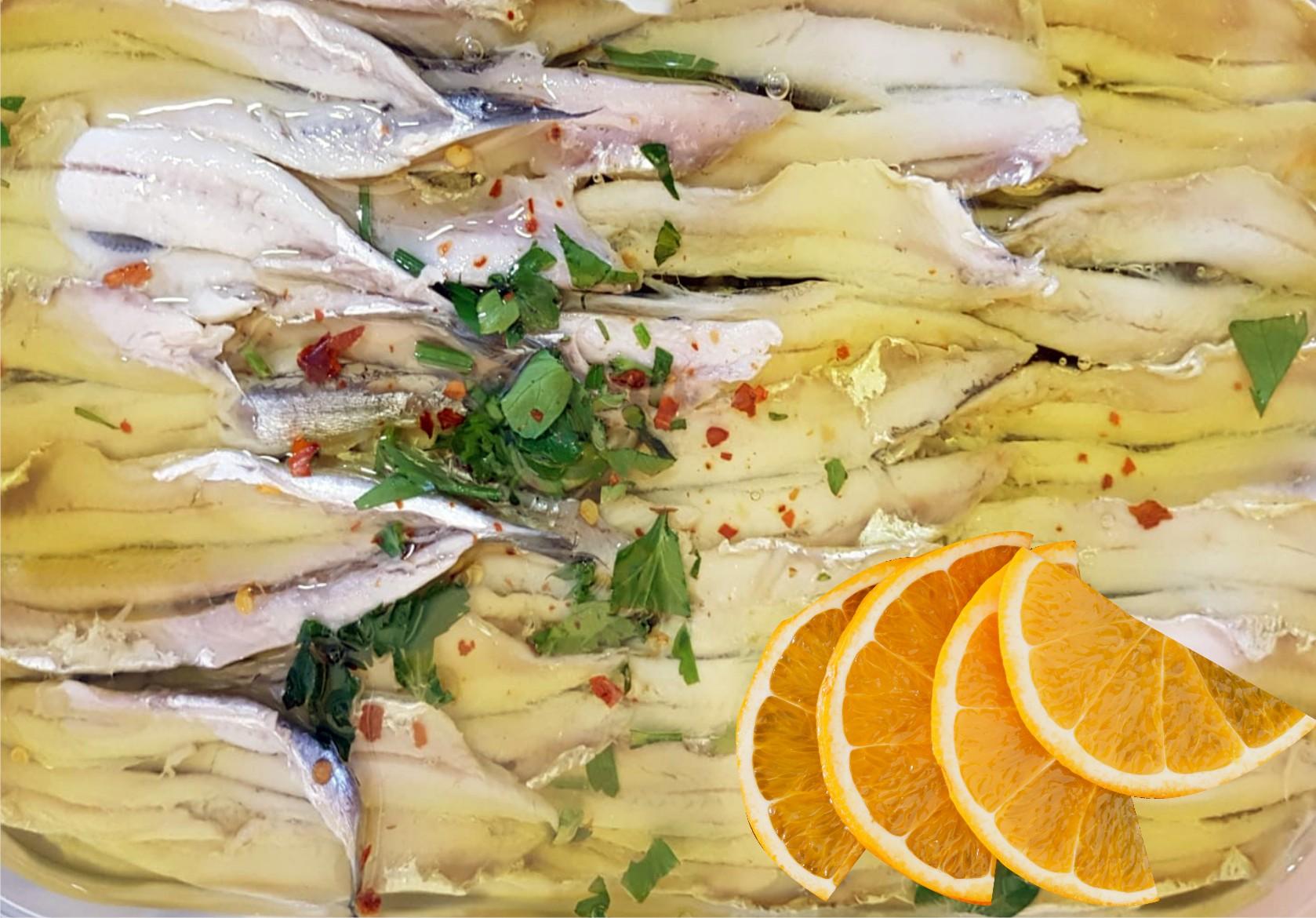 Alici marinate all'arancia