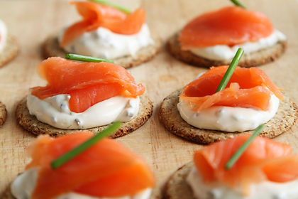 brown-white-and-orange-round-food-on-tab