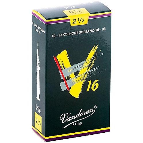 Vandoren V16 - Soprano Saxophone Reeds - Box of 10