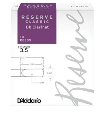 D'Addario Reserve Classic Bb Clarinet Reed